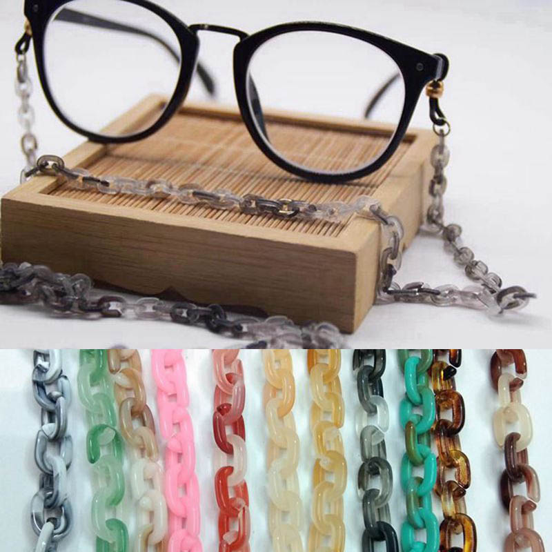 70cm Finished Glasses Acrylic Chains Cord Fashion 6*9mm Styles Eyewear Lanyard Strap Necklace Reading Eyeglass Accessories N096