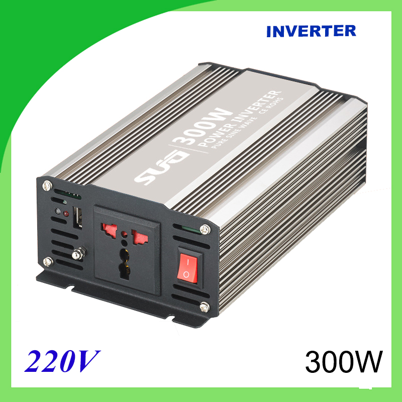 300W pure sine wave solar power inverter DC 12V 24V to AC 110V 220V digital solar power on grid tie mini 300w inverter with mppt funciton dc 10 8 30v input to ac output no extra shipping fee