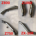 51MM modified motorcycle exhaust Middle Pipe  muffler case for Kawasaki Z750 Z800 Z1000 2010-2014 ZX10R 2009-2014 M1003