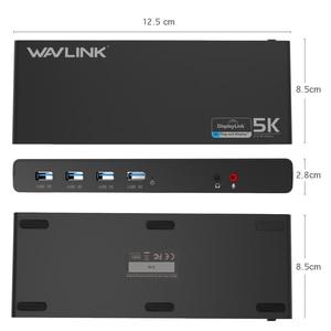 Image 4 - WAVLINK UNIVERSAL ULTRA 5K DOCKING STATION USB C DUAL DISPLAY USB3.0 VIDEO AUDIO OUTPUT SUPPORT HDMI/DISPLAYPORT GIGABIT FOR MAC