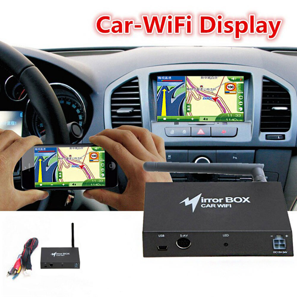 Car WIFI Mirror Box for Android iOS Mobile Phone ...