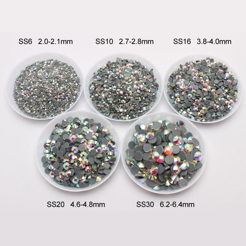 Массовая упаковка AAAAA Одежда высшего качества crystal AB hot fix Стразы гладить на Стразы для одежды Высокое качество SS6-SS30 DMC камни