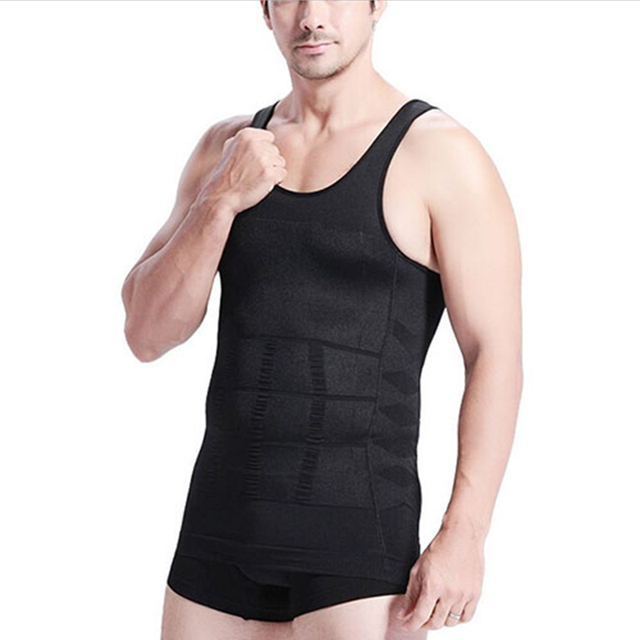 2019 Men Slimming Body Shaper Tummy Shaper Vest Slimming Underwear Corset Waist Muscle Girdle Shirt Fat Burn 3