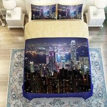 luces de la ciudad moderna rascacielos juegos de cama twin queen king size cover set textiles