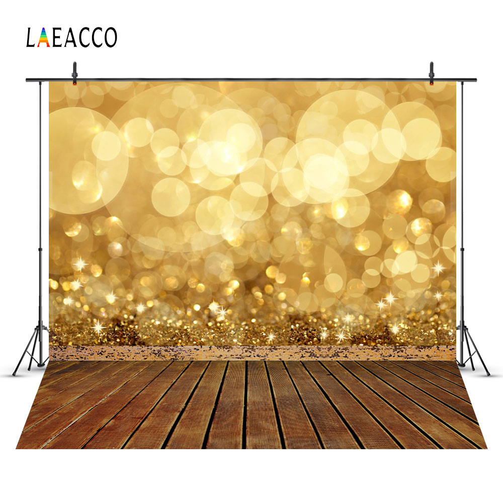 Laeacco Glittering Polka Dot Light Bokeh Wooden Floor Photography Backgrounds Customized Photographic Backdrops For Photo Studio цены