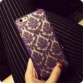 Чехлы для iPhone 7,7 plus, 4S, 5S, 6 s, 6 плюс Случае цветок Дамаск Винтаж Пейсли цветок Полые ПК Твердый Переплет Красочные Крышка Телефона