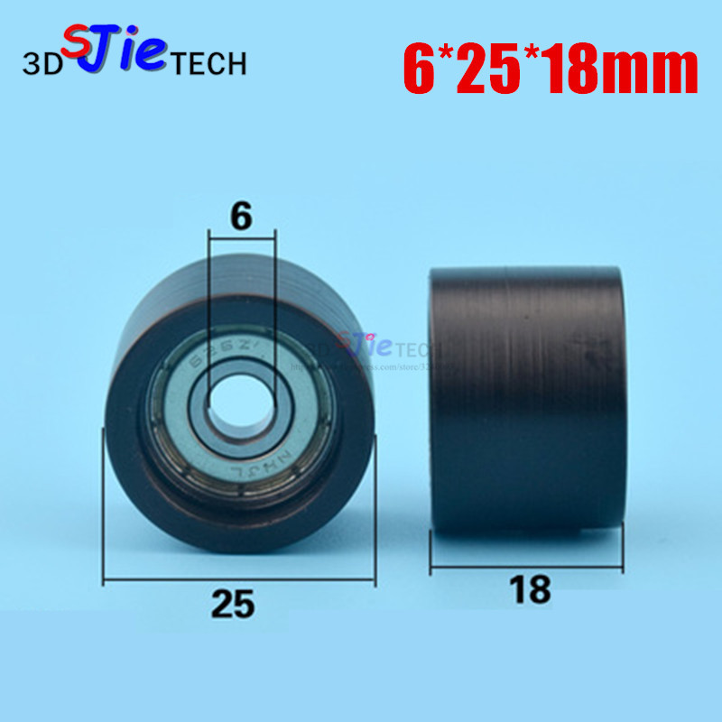 4Pcs 8*35*18mm Black POM Coated Tire Wheel Arc Ball Bearing for Furniture Pulley