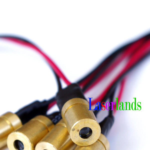 10pcs A Pack 6*10mm 3VDC 3mW 5mW 780nm Infrared IR Laser DOT Module Mini Size