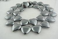 1 Strang 15mm Natürliche farbe Hämatit Herz Perlen