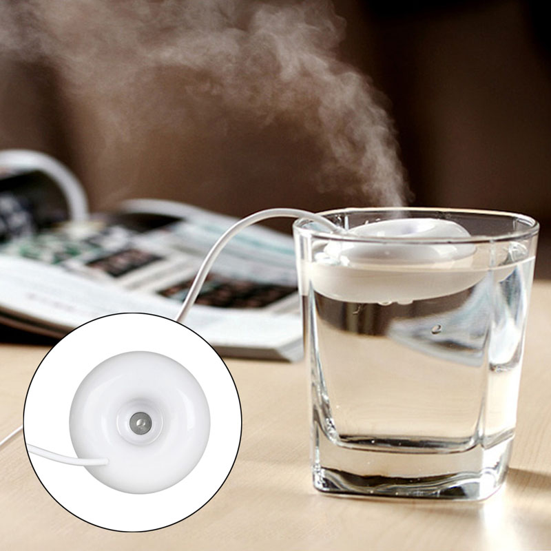 Mini USB Air Humidifier Donuts Purifier Aroma Diffuser Steam For Office Home