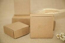 500 قطع 4*4*2 سنتيمتر براون كرافت ورقة مربع لالحلوى/الغذاء/عرس/مجوهرات هدية مربع التغليف عرض صناديق diy قلادة/خواتم التخزين