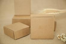 500 adet 4*4*2 cm kahverengi kraft kağit kutu şeker/gıda/düğün/takı hediye kutu ambalaj teşhir kutuları diy kolye/yüzük depolama