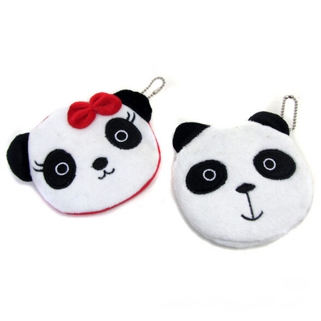 Kawaii Cartoon Panda Coin Purse Childen Plush Money Bag Mini Handbag Key Bag Female Zipper Small Wallet Girls Change Purse Gift