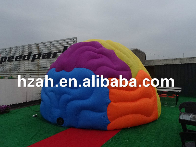 Giant Inflatable Brain Tent for Outdoor Decoration giant inflatable balloon for decoration and advertisements