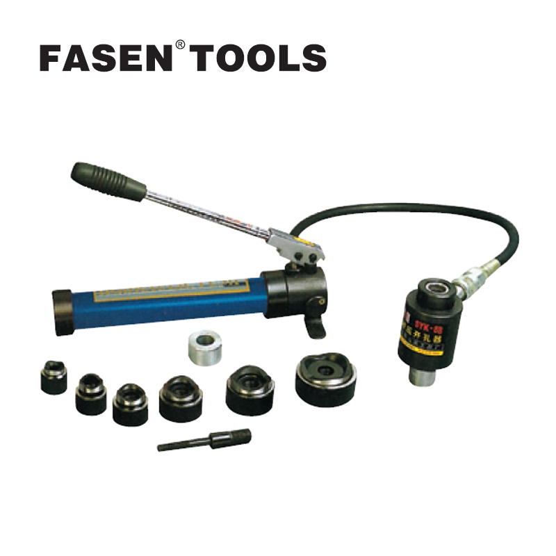 FASEN TOOLS SYK-8B Hydraulic tool Iron plate 3mm thickness below 22-60 Hydraulic perforation tool High quality tools syk 8b hydraulic cable cutter tool hydraulic crimping tool