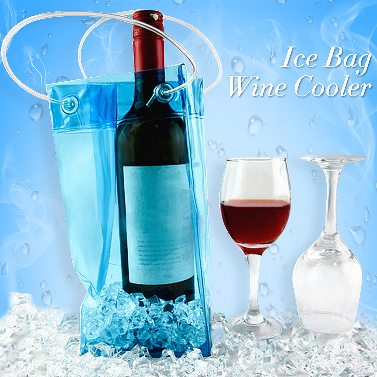 PVC Wine Beer Champagne Drink Cooler Chiller Drink Pouch