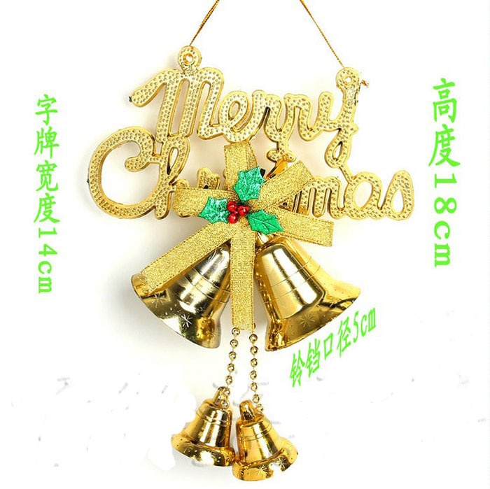 English Alphabet Cards Christmas Tree Ornaments Hanging Bell
