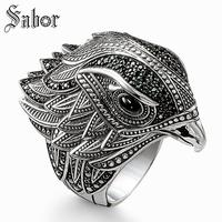 Cocktail Ring Elegant Falcon 925 Sterling Silver Gift for Women Man womens Wholesale Price,2019 Handmade Jewelry thomas