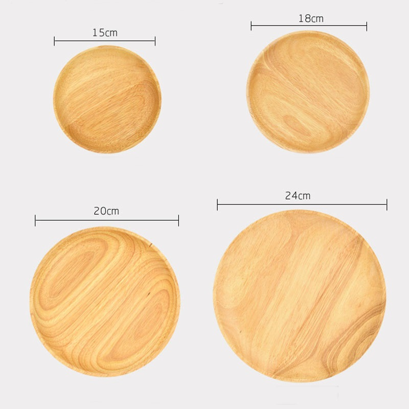 10 Pcs/Lot Round Wooden Plates For Restaurant Natural Wood Tray Serving Small Large Japanese  sc 1 st  AliExpress.com & 10 Pcs / Lot Round wooden plates and bowl for restaurant natural ...