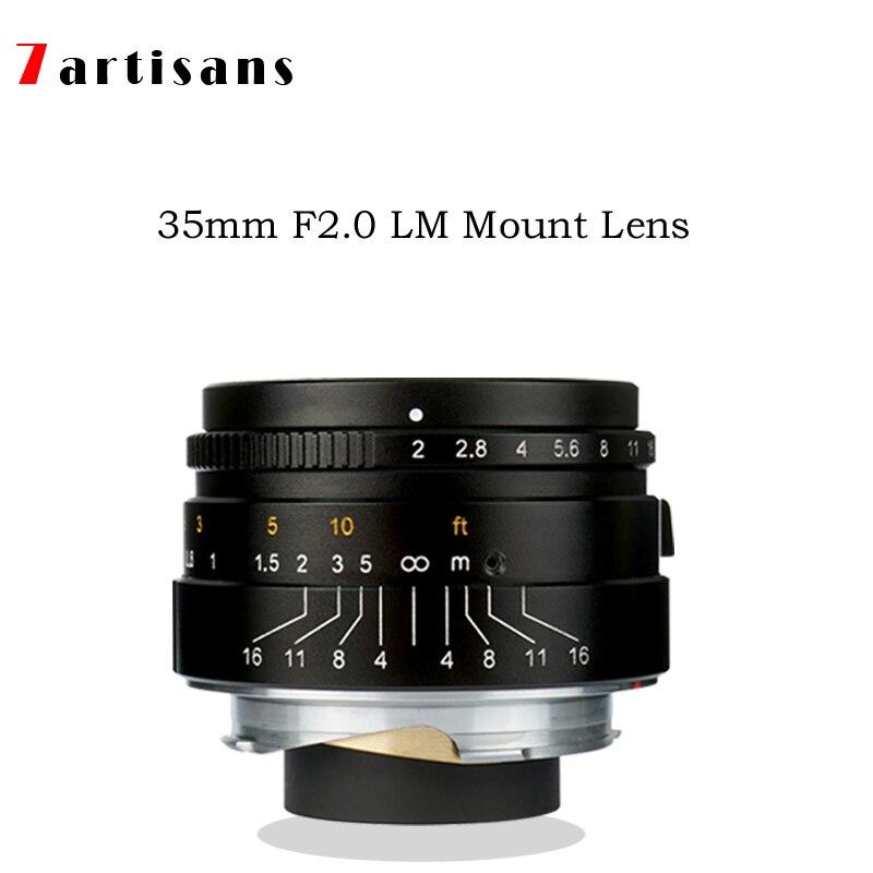 7 artisans 35mm F2 Grande Ouverture paraxial M-monture pour Leica caméras MM M240 M3 M5 M6 M7 M8 M9 M9P M10