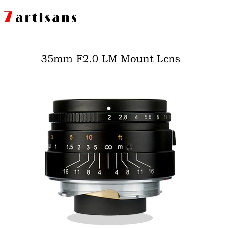 7 artisans 35mm F2 Large Aperture paraxial M-mount Lens for Leica Cameras M-M M240 M3 M5 M6 M7 M8 M9 M9P M10