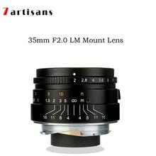 7 ремесленников 35 мм F2 большой апертурой параксиальное M-Крепление объектива для камеры Leica M-M M240 M3 M5 M6 m7 M8 M9 M9P M10