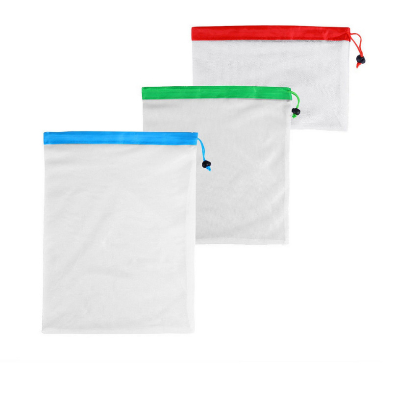 Image 3 - Reusable Mesh Produce Bag Eco Friendly Washable Bags For Grocery Shopping Fruit Vegetable Toys Storage Bags-in Bags & Baskets from Home & Garden