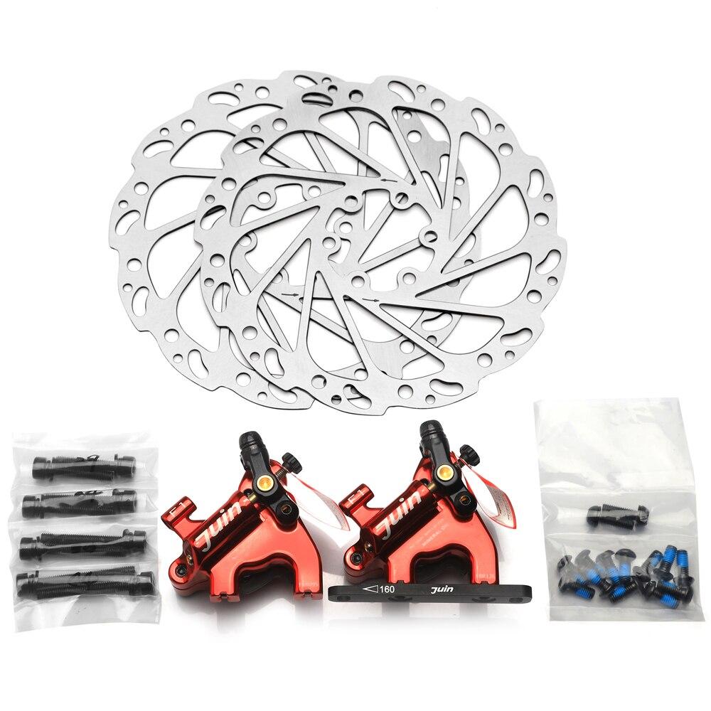 Juin Tech F1 vélo disque étrier de frein ligne de traction hydraulique freins ensemble VTT XC route vtt de frein rotors 160mm plat montage - 4