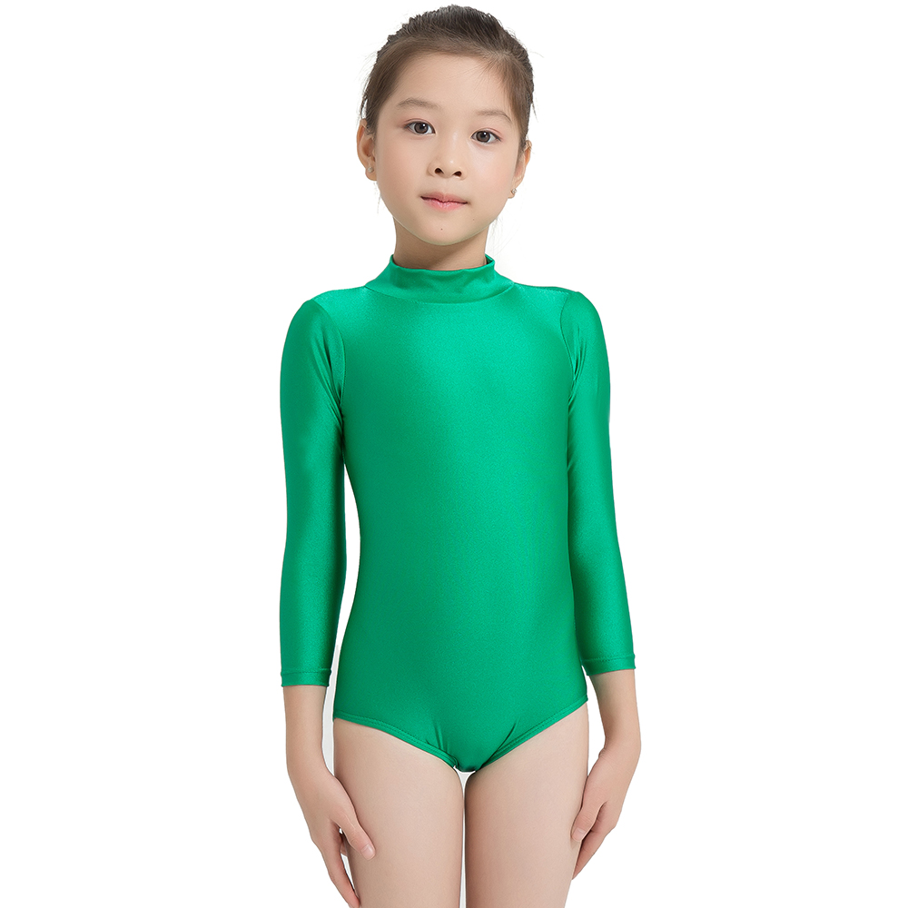 Details about  /Girls Lace Ballet Dance Dress Long Sleeves Gymnastics Leotard Strecthy Jumpsuit