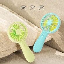 1PC Portable Usb Fans Cute Mini Handheld Cooler Fan USB Charge Ventilation Air Conditioning Fans 4 Colors