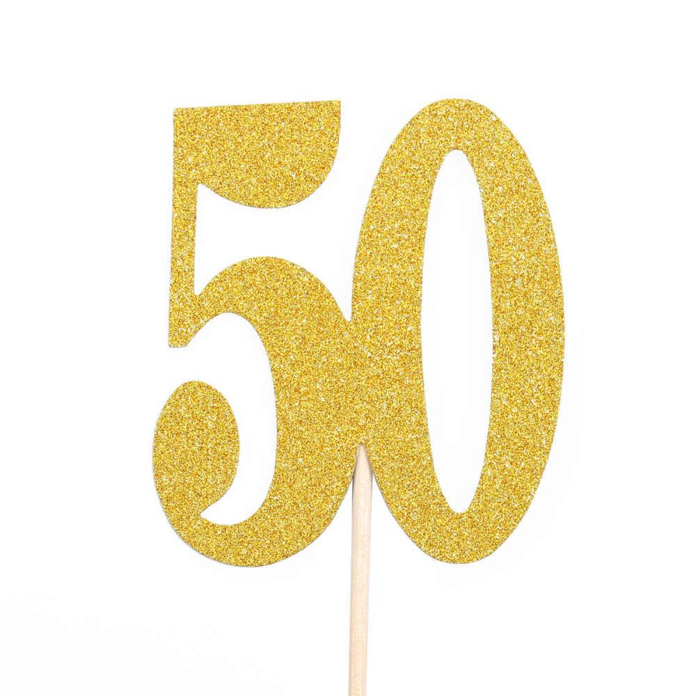 Lincaier 10 шт. 10 20 30 40 50 60 70, 80, 90, 100 лет, платья на день рождения торт украшения для капкейков вечерние украшения кекс поставки 30th 50th