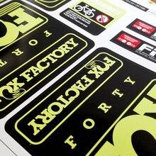 Велосипедная наклейка s для велосипеда 40 передняя вилка наклейка для горного велосипеда передняя вилка наклейки MTB велосипед амортизаторы наклейка