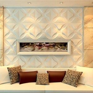 Image 4 - Yazi Stampi di Plastica Forme 3D Decorativi Pannelli di Parete Murales Carta Da Parati per Soggiorno dimensioni 300*300*1.5 millimetri