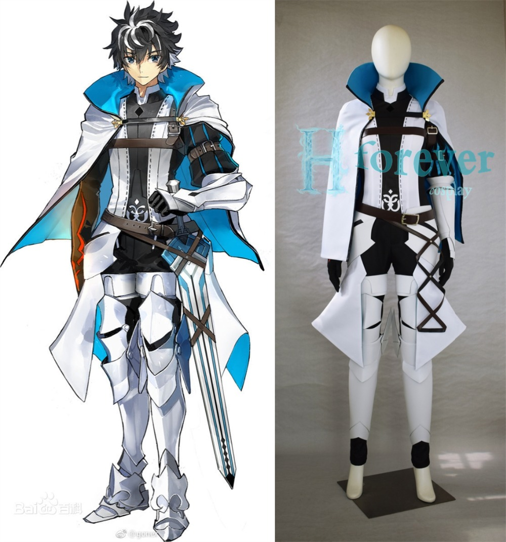 New Anime Fate/EXTELLA LINK Saber Charlemagne Cosplay Costume Outfit Halloween Adult Costumes for Women/Men Custom Any Size