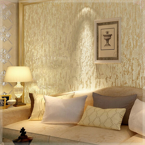 Cream White 3D Flocking Abstract Embossed Textured Modern Wallpaper Wall Covering Paper Roll Home Decor Livng Room Sofa T In Wallpapers From
