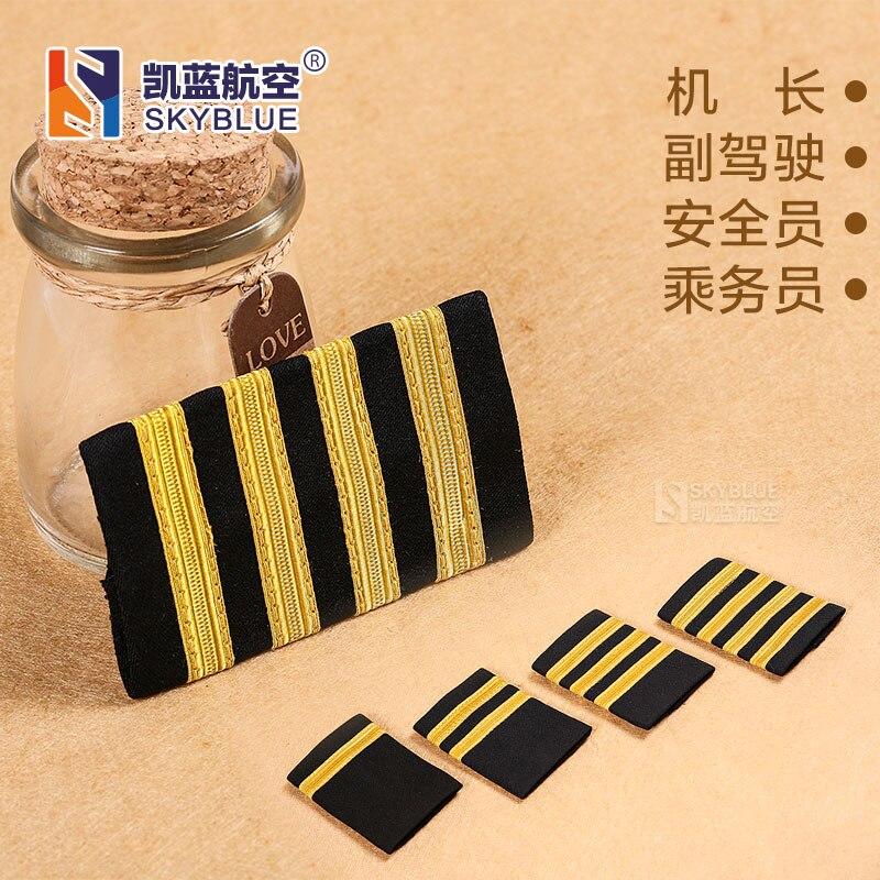 Basic Style Epaulette Shoulder-Straps Epaulet Shoulder Mark for Pilot Shirt Clothes Flight Crew Aviation Lover Best Gift все цены