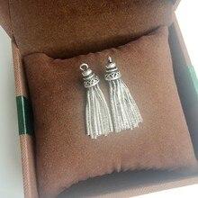 """32 мм Винтажный серебряный цвет кисточки форма """"925 пробы серебро"""" подвески ювелирные изделия"""