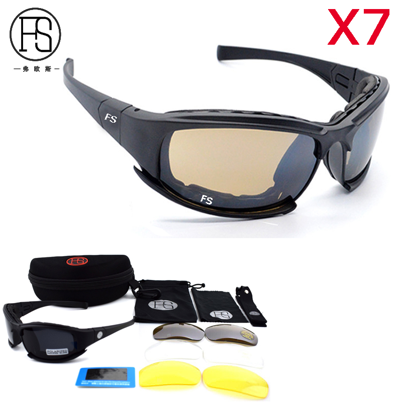 New Camouflage Frame X7 Polarized Military Sunglasses Tactical Shooting Goggles Climbing Hiking Outdoor Cycling Eyewear