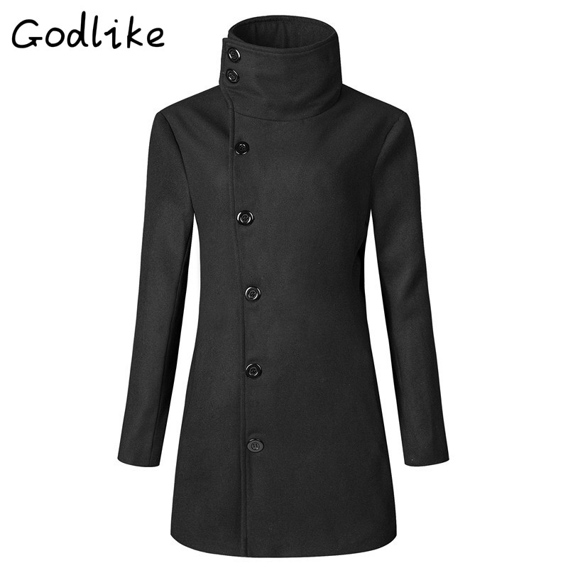 2018Mens fashion business casual long style trench coat./new autumn and winter new big lapels men double breasted trench coat.
