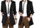 2016 Otoño Trench Coat de Los Hombres de Doble Botonadura Hombres Gabardina prendas de Vestir Exteriores Ocasional de la Capa Chaquetas de Los Hombres Rompevientos Para Hombre Gabardina