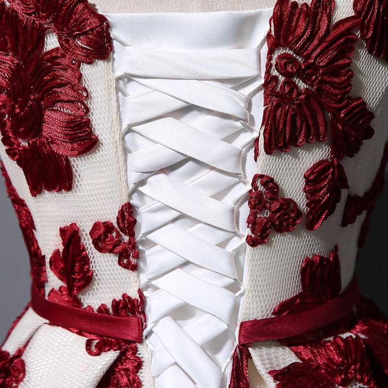 Elegant V-neck Lace Long Bridesmaids Dress