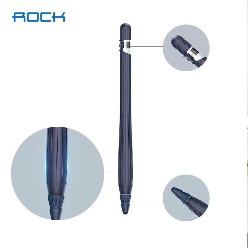 For Apple Pencil Silicone Case Anti-lost Pen Tip Pen Holder Nib Cover Grip 3 Set