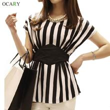 New Spring 2016 Striped Print Chiffon Women Blouses Casual Tops For Women Blouse Shirt Ladies Clothing