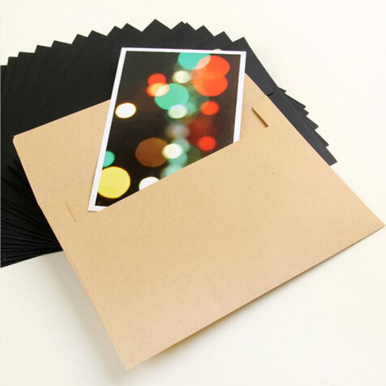 10pcs/lot 16*11cm Retro Window Envelope Wedding Party Letter Invitation Greeting Cards Cover Gift Wallet Envelope