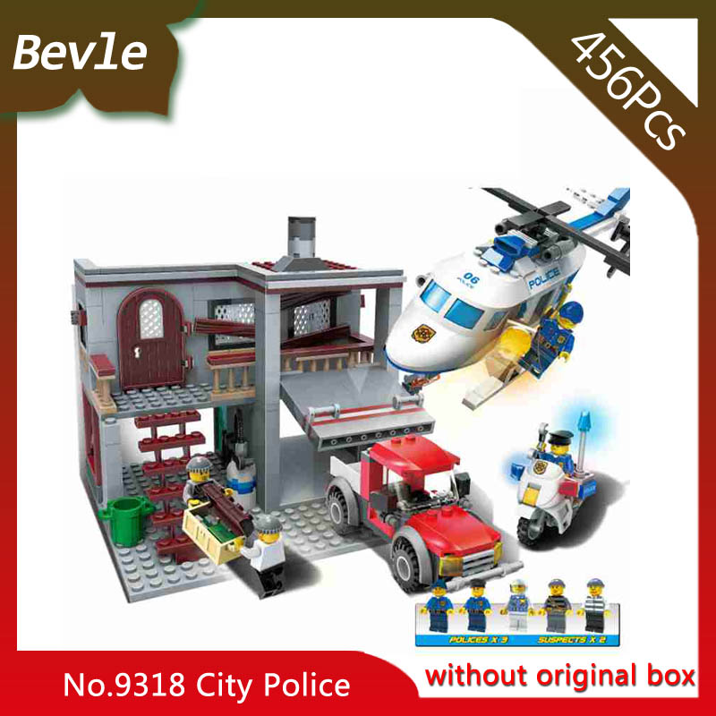 Bevle Store LEPIN 9318 456Pcs City Series Helicopter Hunt Model Building Blocks Set Bricks Children For Toys Gudi Boys Gift lepin 02012 city deepwater exploration vessel 60095 building blocks policeman toys children compatible with lego gift kid sets