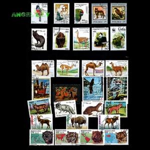 Image 2 - 200 ADET HIÇBIR Repetiton Konu Vahşi Hayvan Kullanılmayan Posta Pulları, posta pulları Sonrası Işareti Koleksiyonu 200