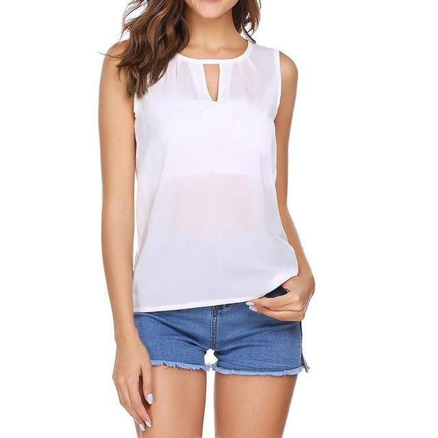 Fashion Sexy Women Ladies Tank Tops Irregular Hollow Cotton Open Back Vest Sleeveless Tank Top Crop Blouse Female Camisola 2