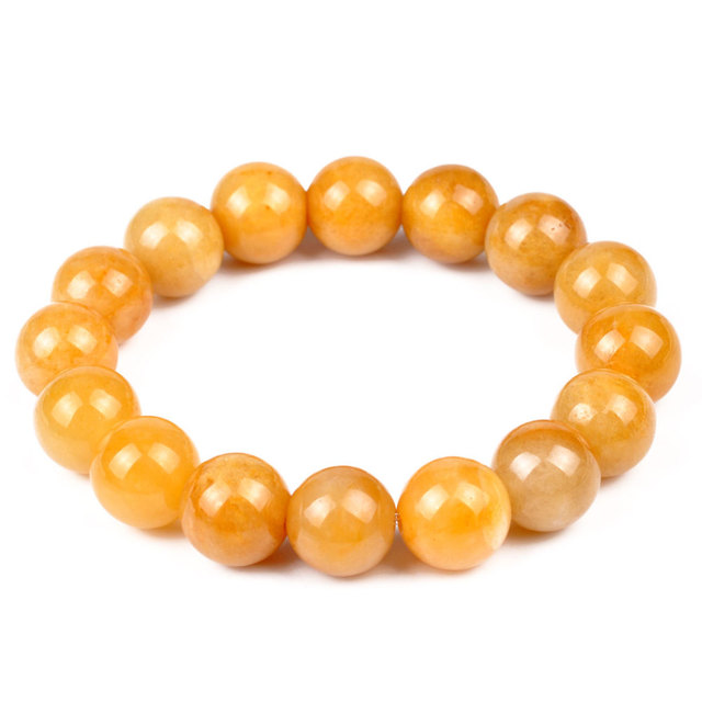 Lucky Feng Shui House Chalcedony Yellow Topaz Crystal Bracelet Enrichment Trick Wealth Stone