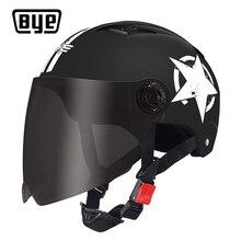 BYE Motorcycle Helmet Full Face For Scooter Capacete Unisex Crash Helmet Motocross Riding Biker Motorbike Moto Helmet