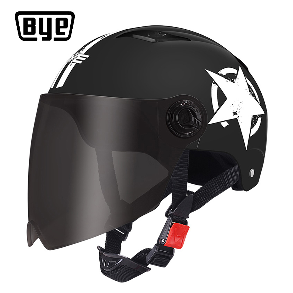 BYE Motorcycle Helmet Full Face For Scooter Capacete Unisex Crash Helmet Motocross Riding Biker Motorbike Moto Helmet